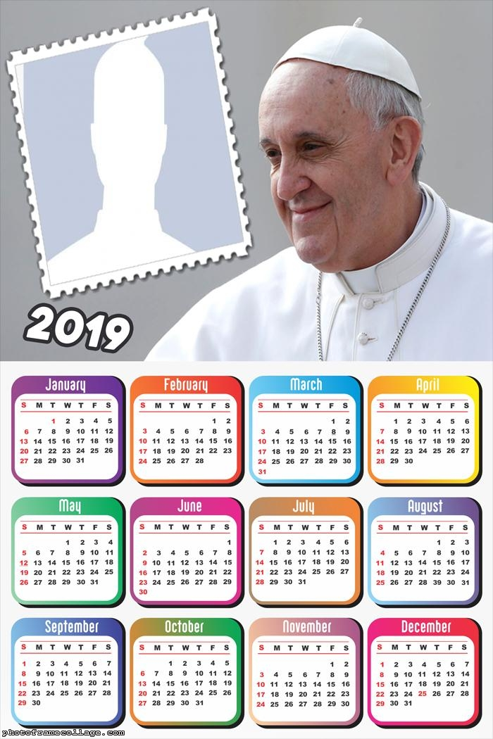 Pope Francis Calendar 2019