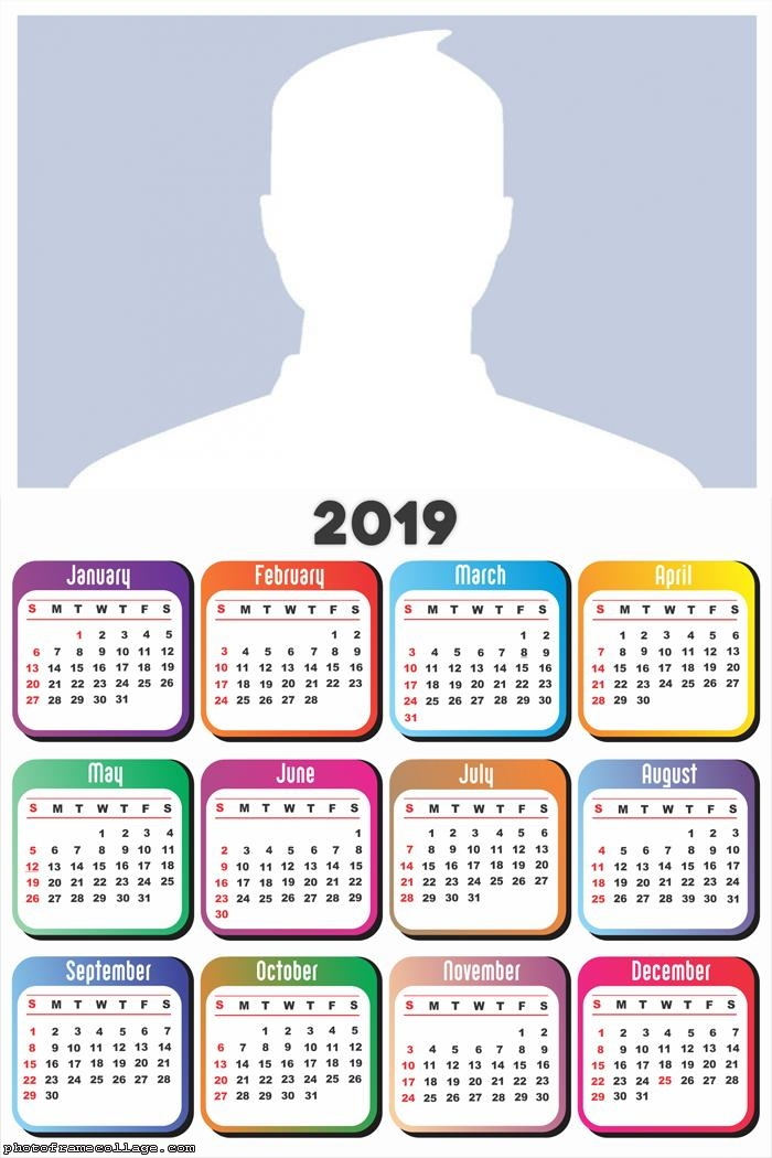 2019 Calendar in White