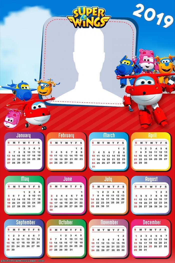 Super Wings Calendar 2019