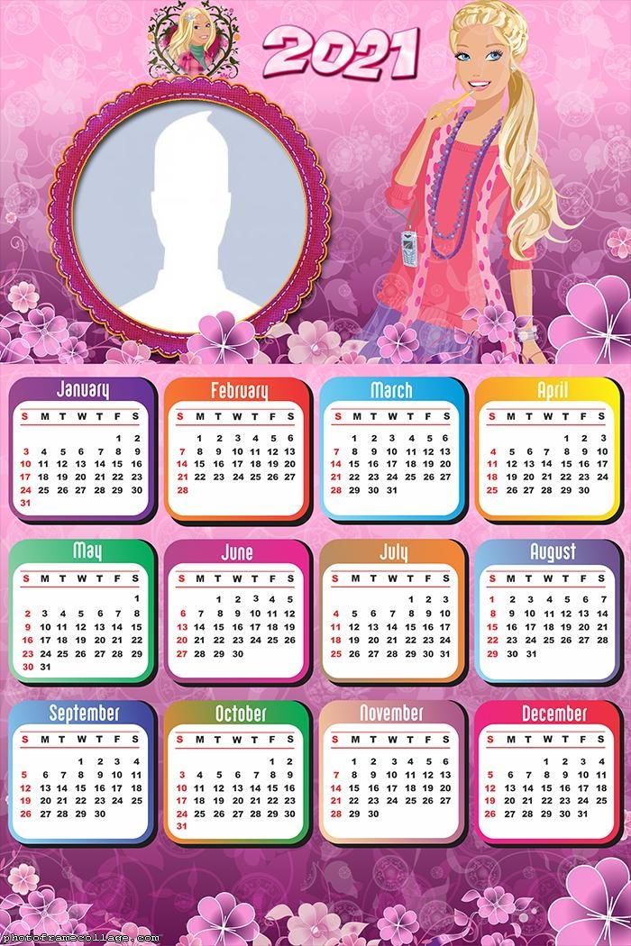 Barbie Girl Calendar 2021
