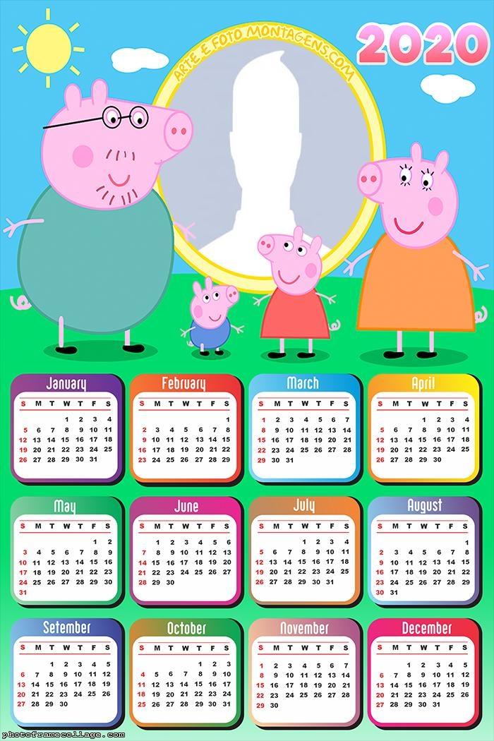 Family Peppa Pig Calendar 2020