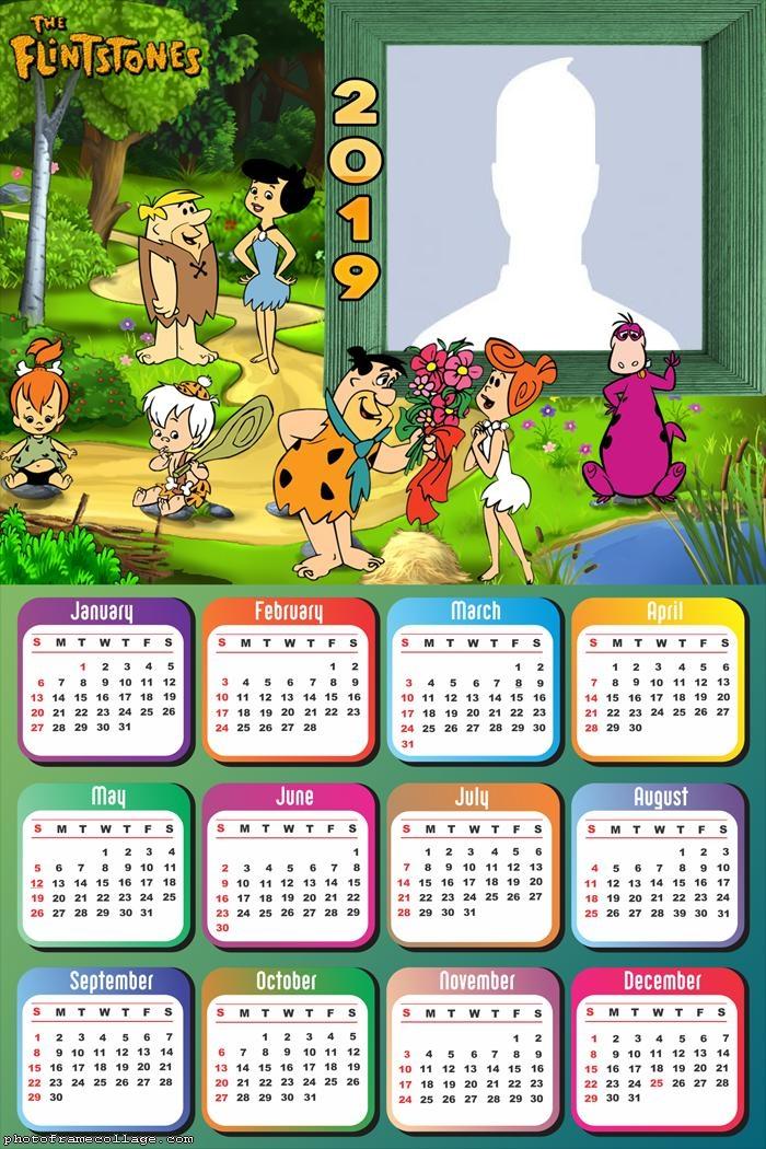 The Flintstones Calendar 2019