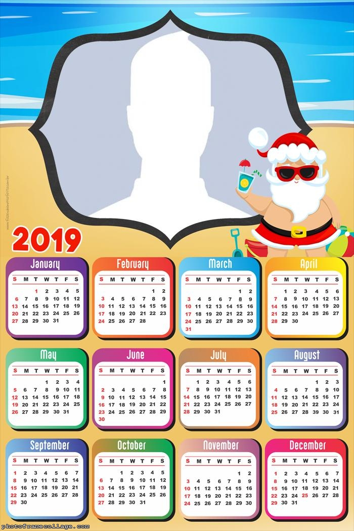 Santa Claus on the Beach Calendar 2019