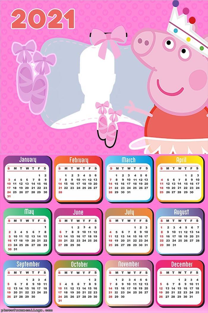 Peppa Pig Ballerina Calendar 2021