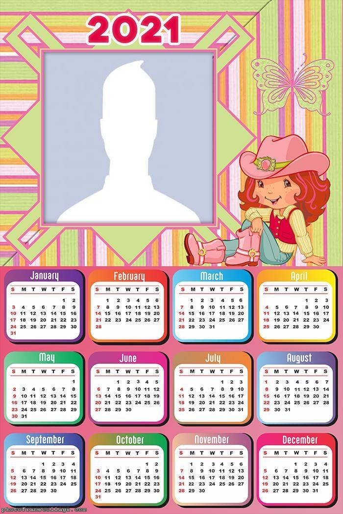 Strawberry Shortcake Cartoon Calendar 2021