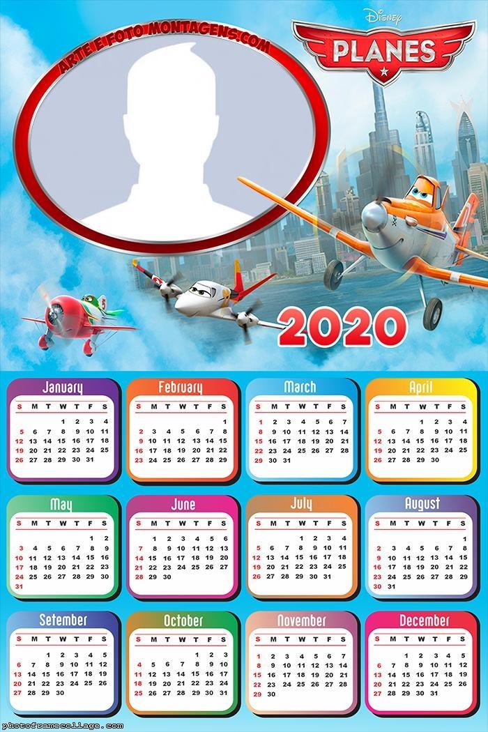 Frame Picture Planes Calendar 2020