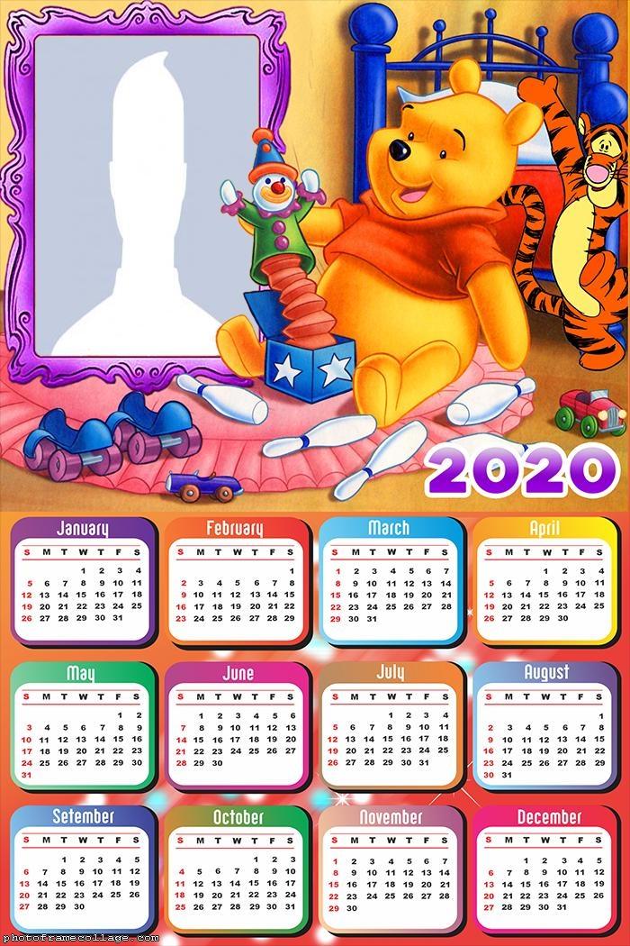 Calendar 2020 Pooh Winnie