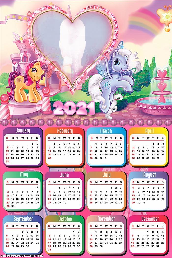 Calendar 2021 Pony
