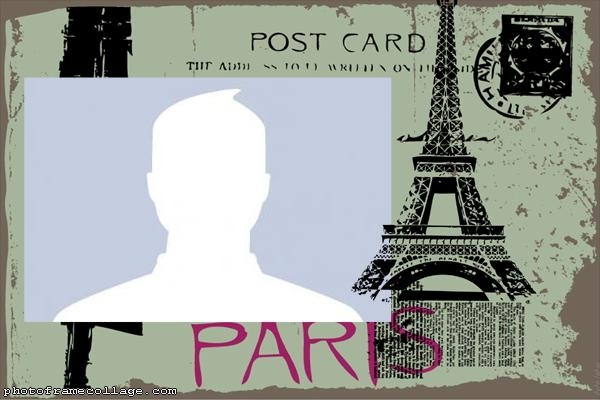 Paris Post Card Photo Collage