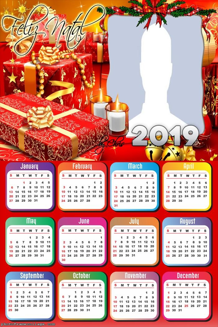 Calendar Christmas 2019 Christmas Gift Calendar 2019 | Photo Frame Collage