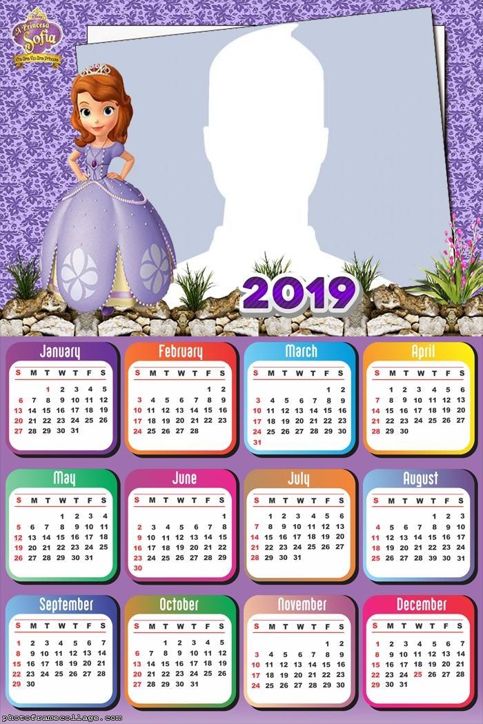 Little Princess Sofia Calendar 2019