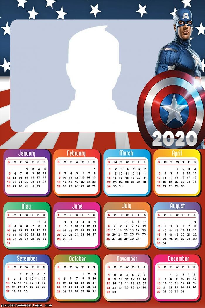 Captain America Movie Calendar 2020