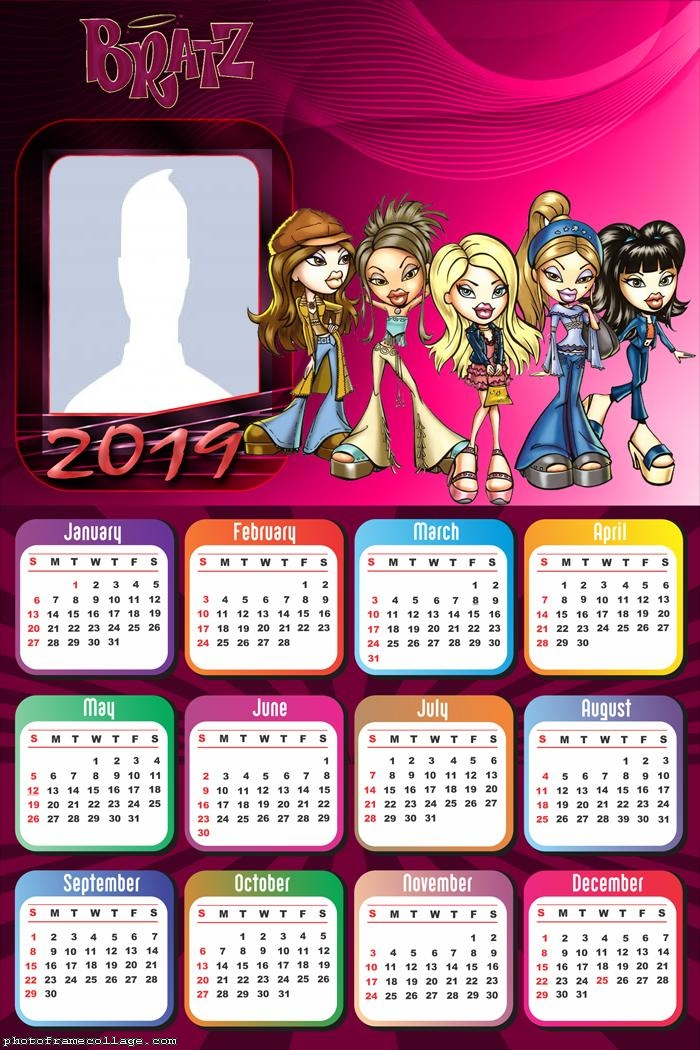 Bratz Calendar 2019 Photo Collage
