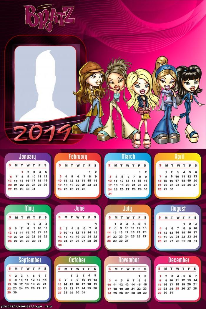 Bratz Calendar 2019 Photo Collage