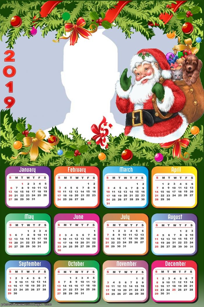 Happy Santa Claus Calendar 2019