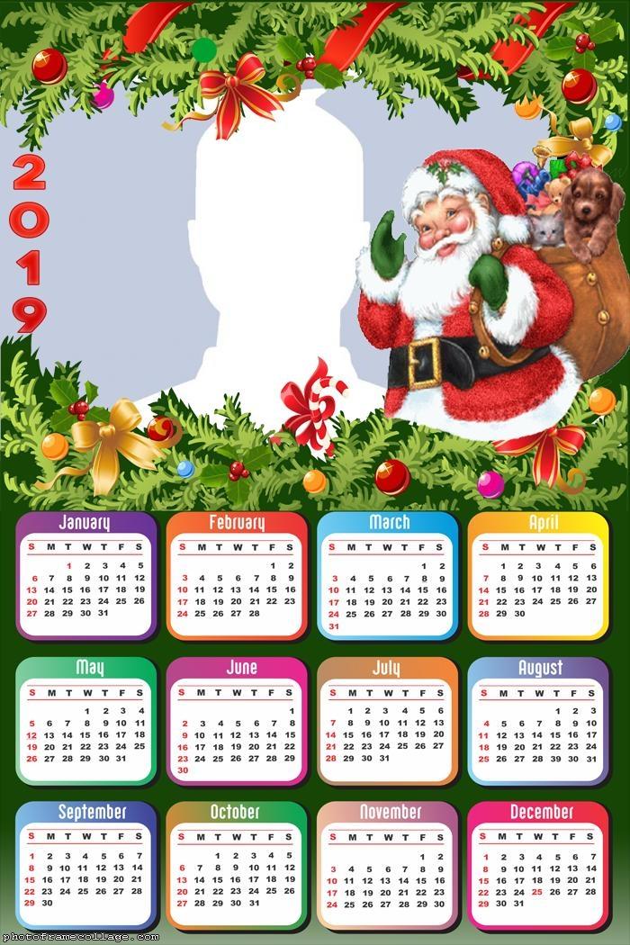 Happy Santa Claus Calendar 2019