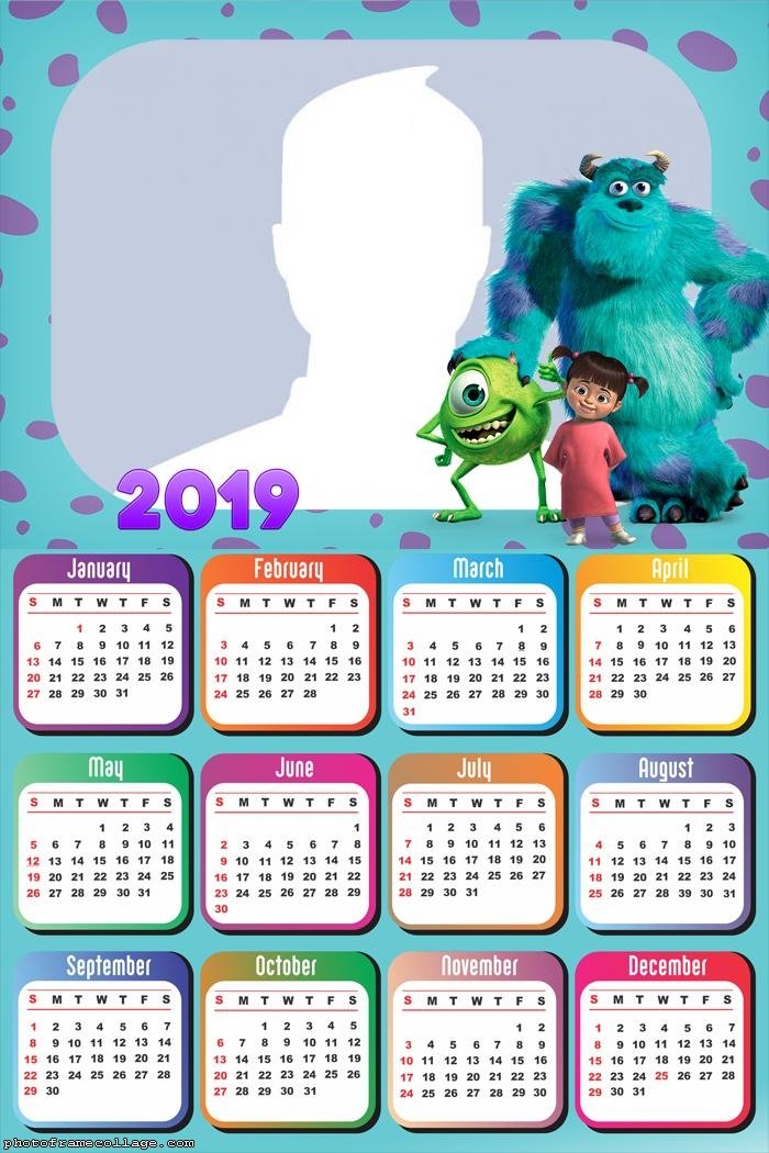 Monsters Inc Calendar 2019