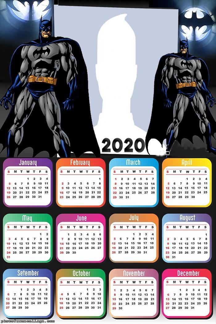 Batman Calendar 2020 Online Frame Picture