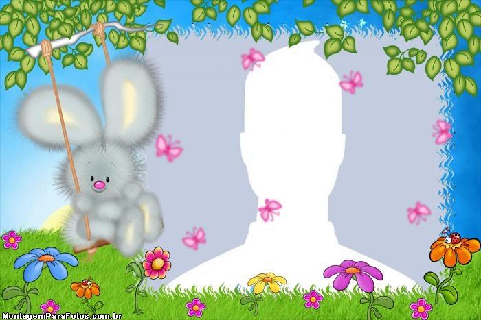 Rabbit on Swing Frame | Photo Frame Collage