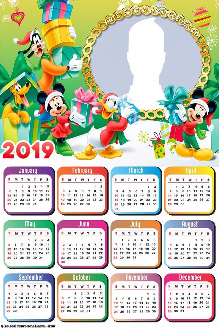 Mickey Christmas Gifts Calendar 2019
