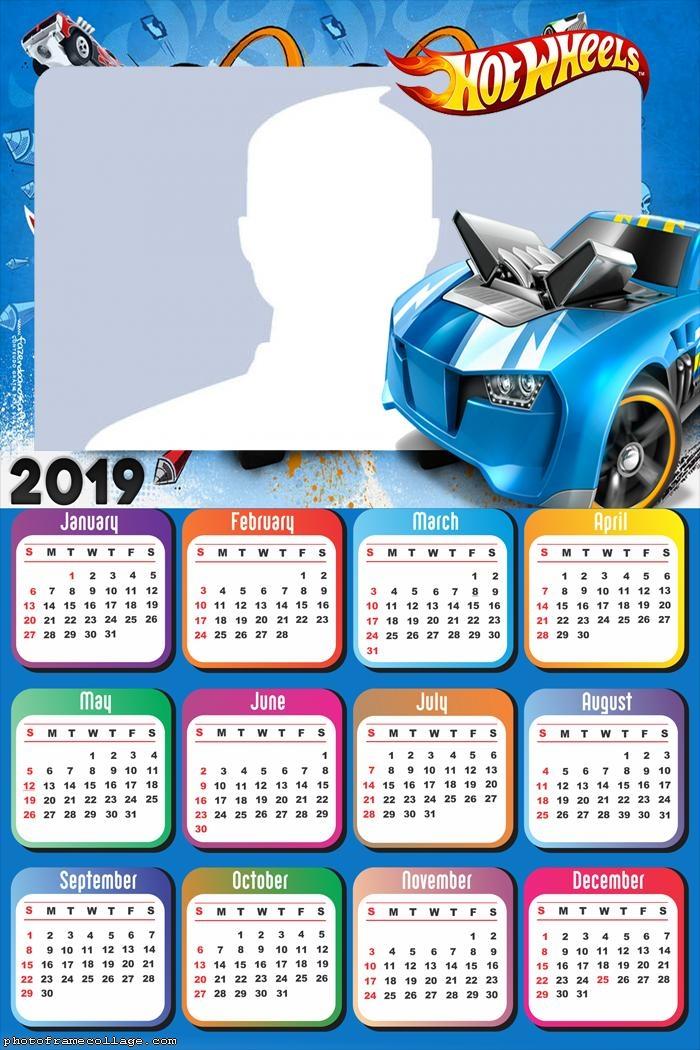 Hot Wheels Calendar 2019