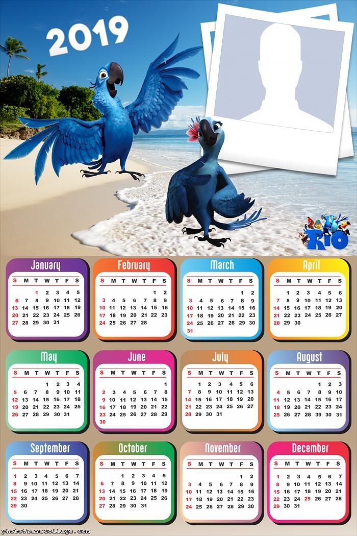 Blue Macaw Movie Rio Calendar 2019