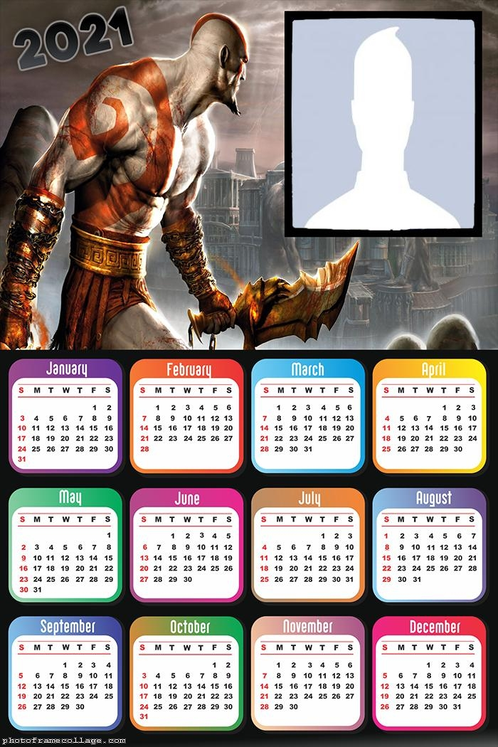 Calendar 2021 God of War