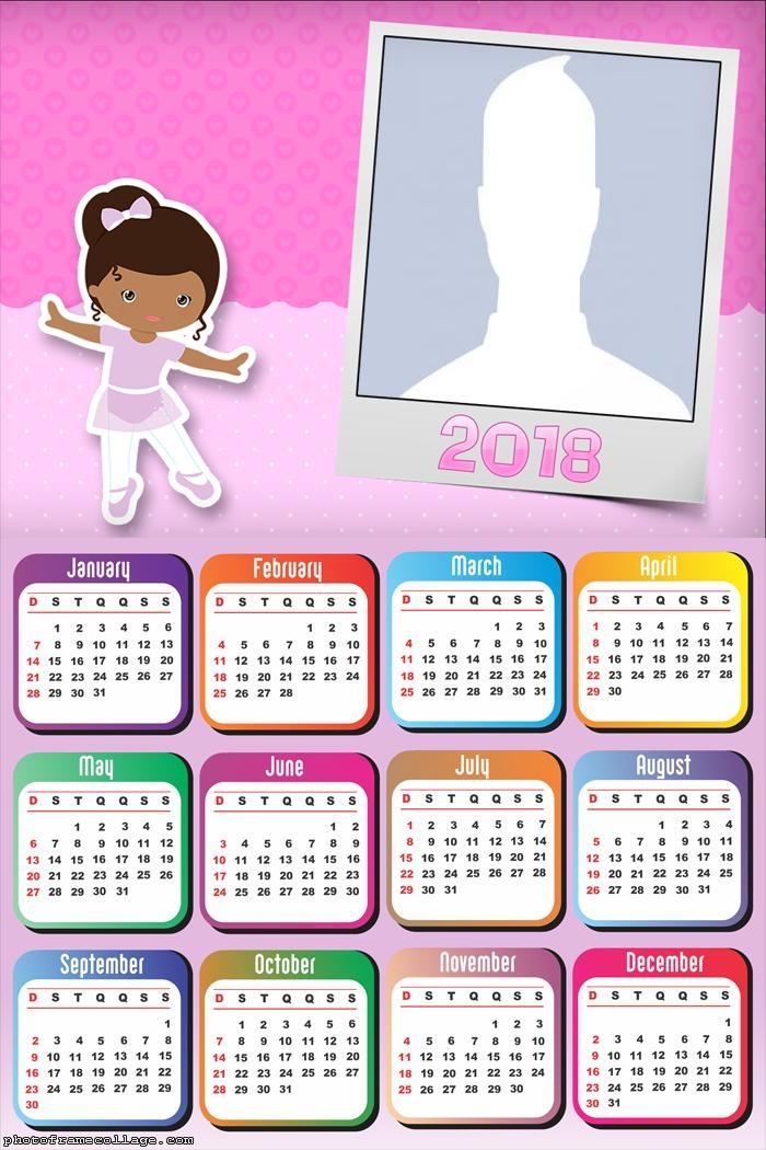 Calendar 2018 Ballet Dancer