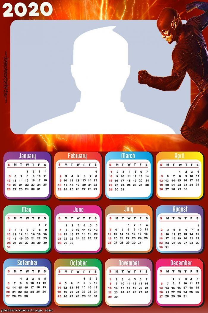 Flash Calendar 2020 Frame Picture