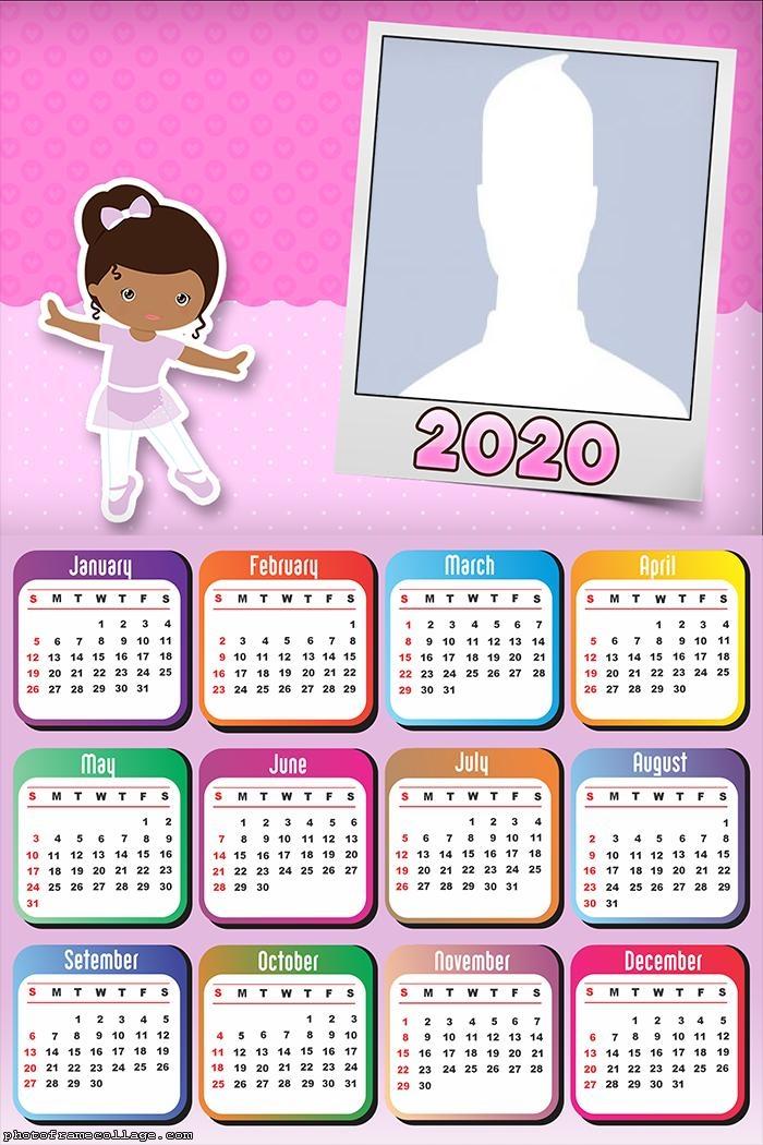 Ballet Dancer Calendar 2020