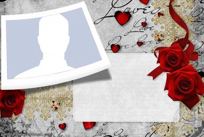 Convite Love Roses Collage