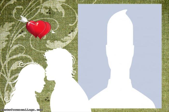 Valentines Silhouette Collage