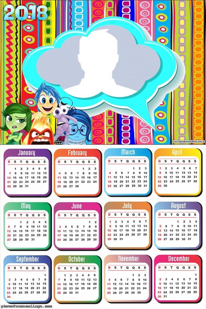 Calendar 2018 Inside Out