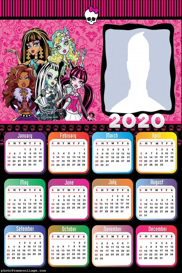 Monster High Calendar 2020