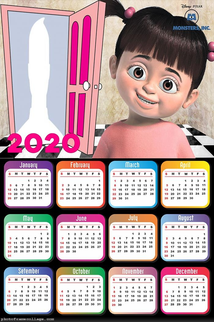 Monsters Inc Boo Calendar 2020