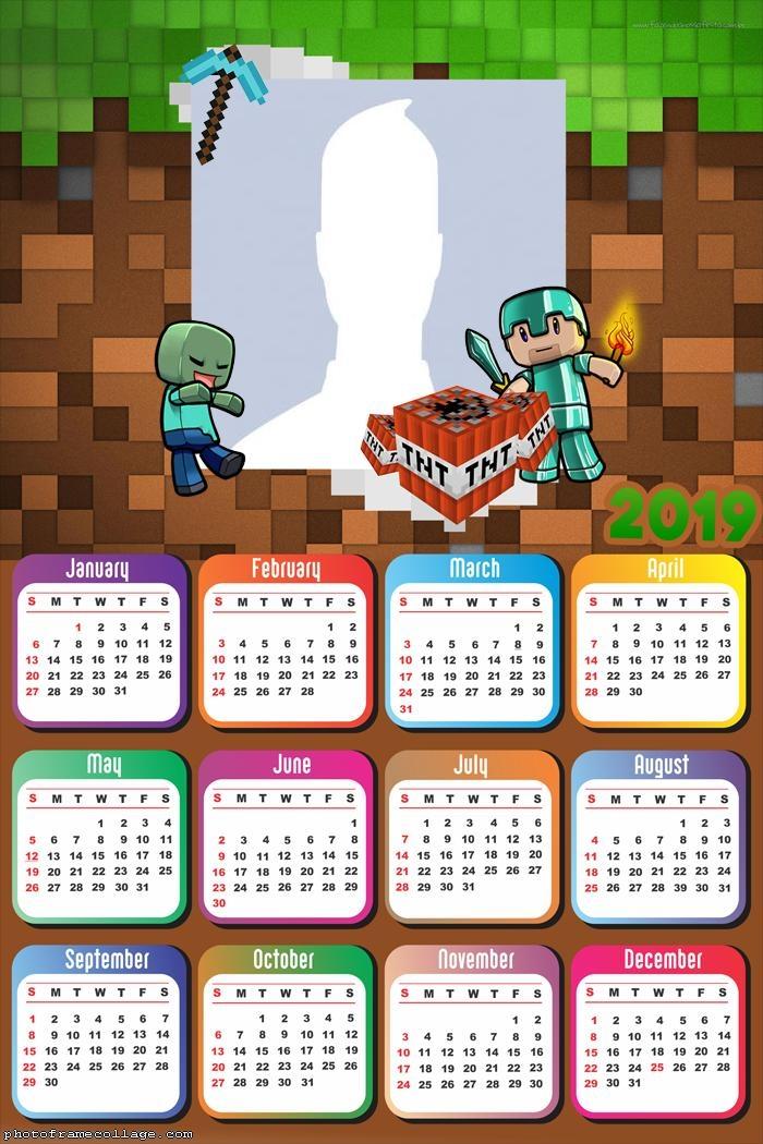 Minecraft Pocket Edition Calendar 2019