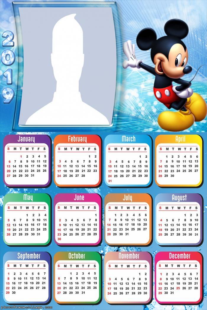 Mickey Disney Calendar 2019