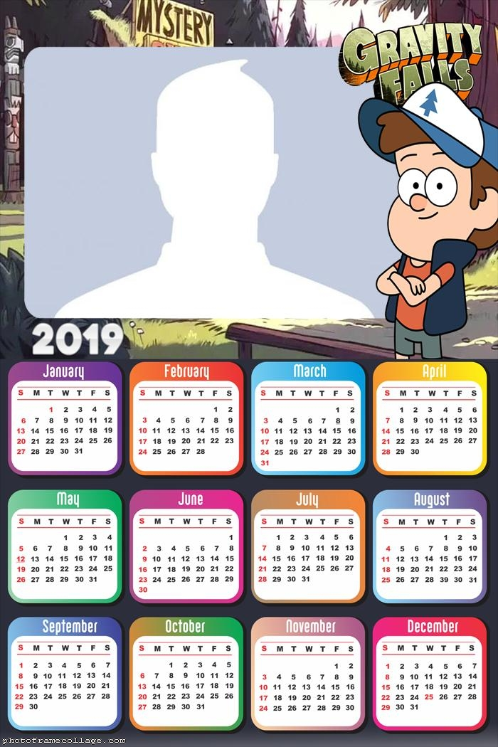 Dipper Gravity Falls Calendar 2019