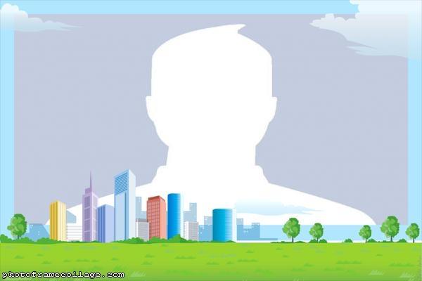 City Cartoon Montage