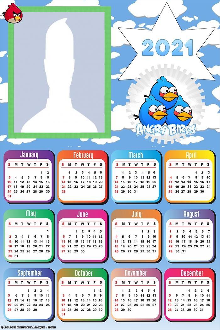 Calendar 2021 Angry Birds