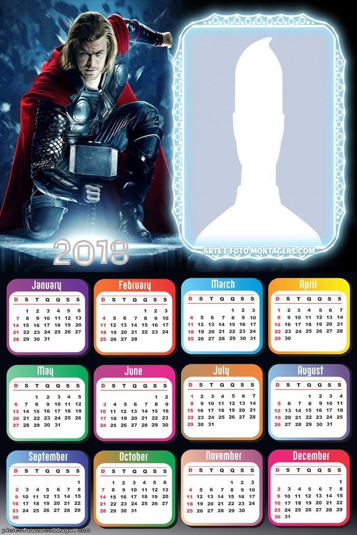 Calendar 2018 Thor