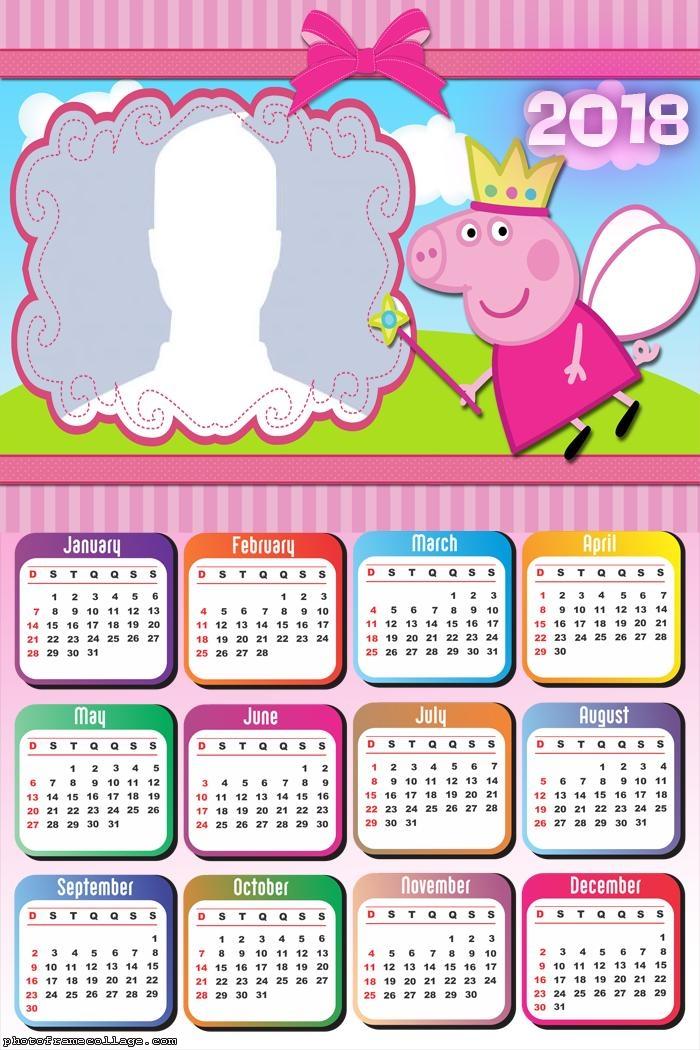 Calendar 2018 Peppa Pig Fairy