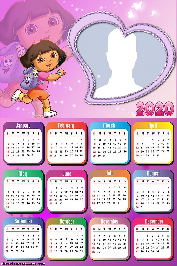 Dora the Explorer Movie Calendar 2020
