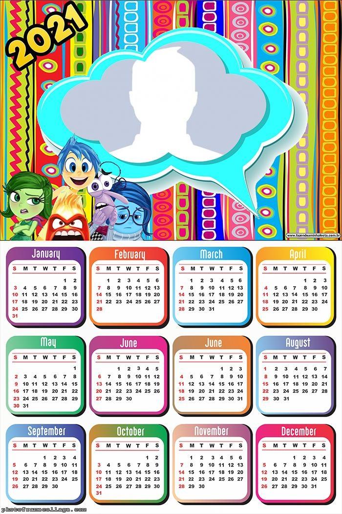 Calendar 2021 Inside Out