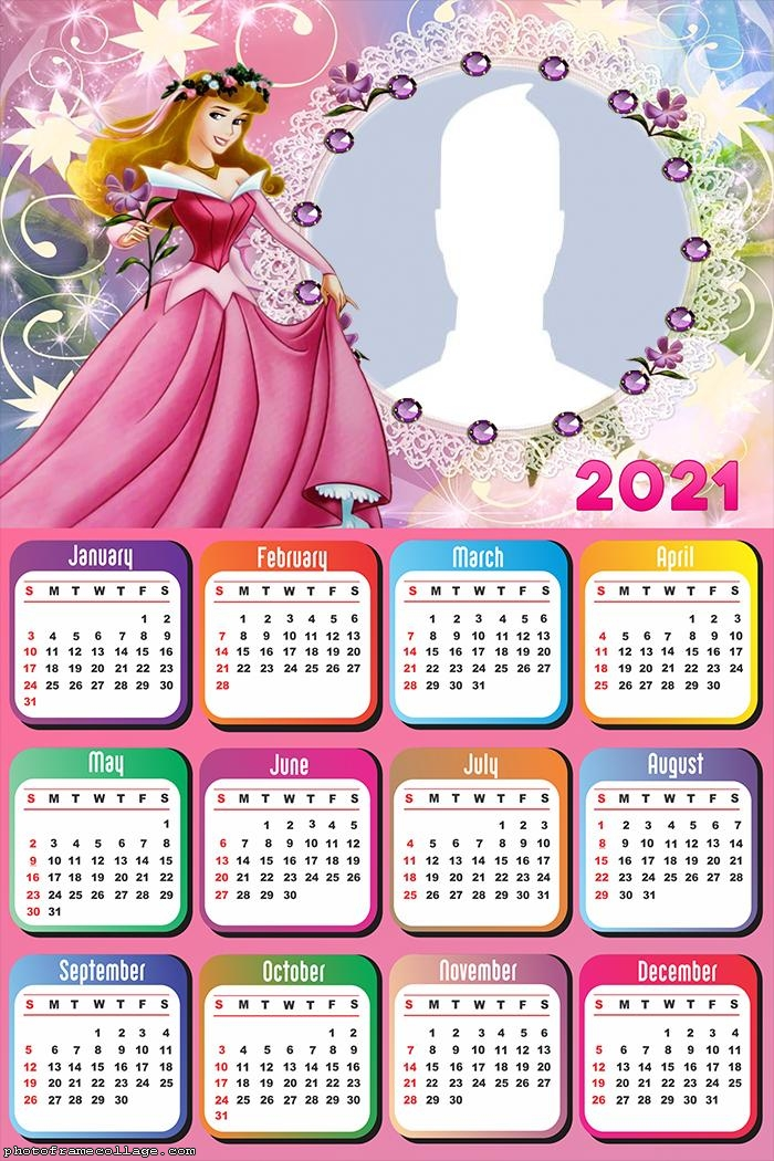 Calendar 2021 Princess Aurora Sleeping Beauty
