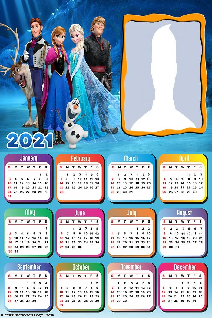 Frozen 2 Calendar 2021