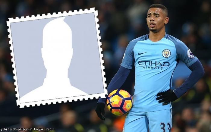 Photo Collage Gabriel Jesus Manchester City