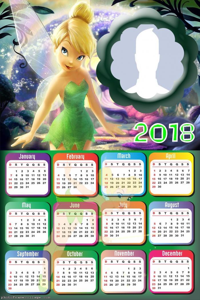 Calendar 2018 Tinker Bell
