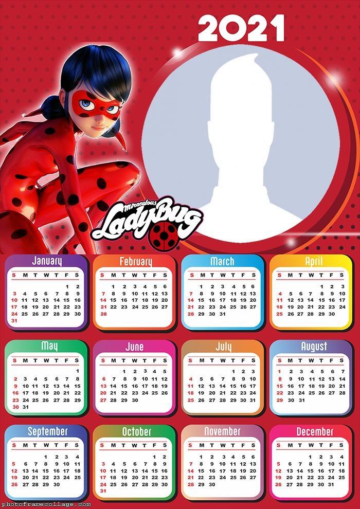 Calendar The Miraculous Ladybug 2021