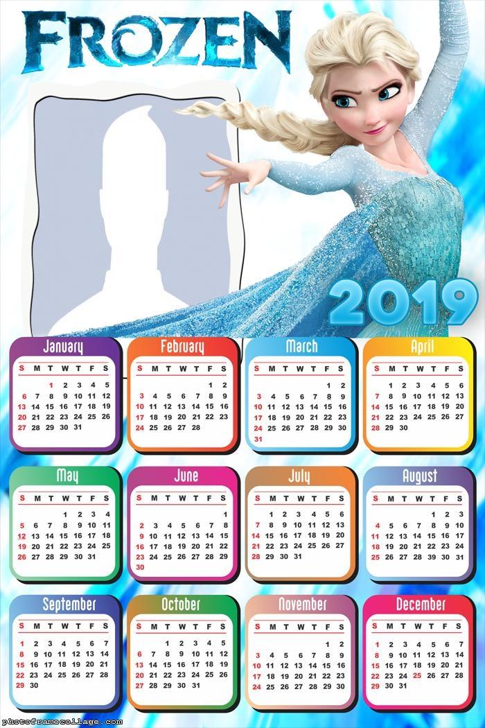 Elsa Frozen Princess Calendar 2019